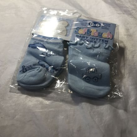 0-6 Month Sock and Mitten Car Set